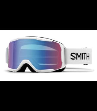 SMITH 2021 SMITH DAREDEVIL GOGGLE WHITE w/ BLUE SENSOR MIRROR