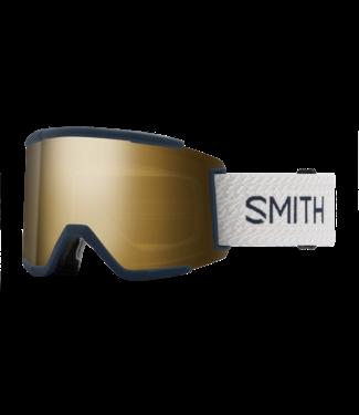 SMITH 2021 SMITH SQUAD XL GOGGLE FRENCH NAVY MOD w/ CHROMAPOP SUN BLACK GOLD MIRROR + CHROMAPOP STORM ROSE FLASH