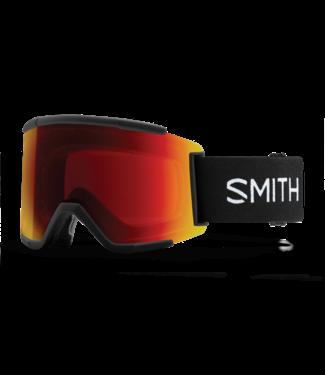 SMITH 2022 SMITH SQUAD XL GOGGLE BLACK w/ CHROMAPOP SUN RED MIRROR + CHROMAPOP STORM ROSE FLASH