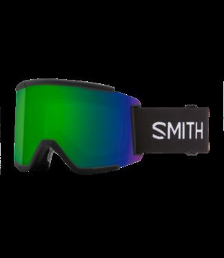 SMITH 2021 SMITH SQUAD XL GOGGLE BLACK w/ CHROMAPOP SUN GREEN MIRROR + CHROMAPOP STORM ROSE FLASH