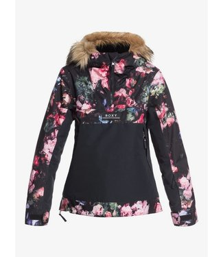 ROXY 2021 ROXY GIRLS SHELTER JACKET TRUE BLACK BLOOMING PARTY (KVJ6)