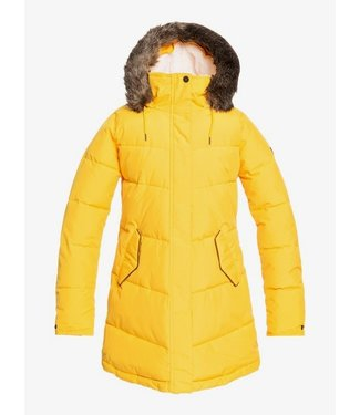 ROXY 2021 ROXY WOMENS ELLIE PUFFER JACKET GOLDEN ROD (YKK0)