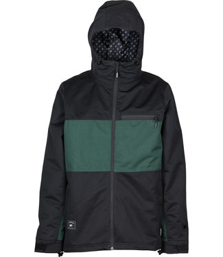 L1 2021 L1 HASTING JACKET BLACK EMERALD
