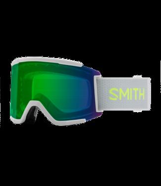 SMITH 2021 SMITH SQUAD XL SPORT WHITE w/ CHROMAPOP EVERYDAY GREEN MIRROR + CHROMAPOP STORM YELLOW FLASH