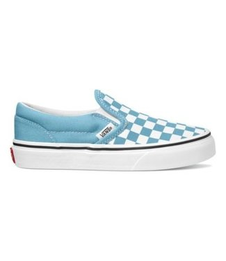 VANS VANS KIDS CHECKERBOARD CLASSIC SLIP-ON SHOE DELPHINIUM BLUE/TRUE WHITE
