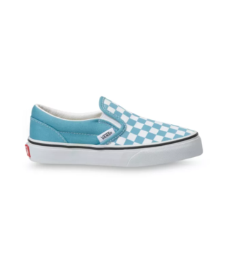 VANS VANS LITTLE GIRLS CLASSIC SLIP-ON SHOE - (CHECKERBOARD) DELPHINIUM BLUE/TRUE WHITE