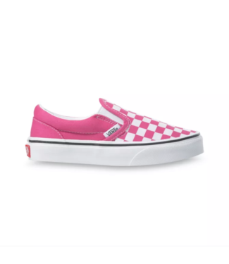 VANS VANS LITTLE GIRLS CLASSIC SLIP-ON SHOE - (CHECKERBOARD) FUCHSIA PURPLE/TRUE WHITE