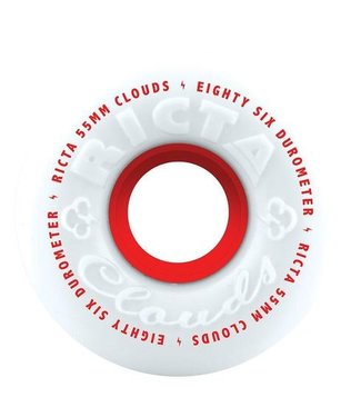 RICTA CLOUDS RED SKATEBOARD WHEELS - 55MM - 86A