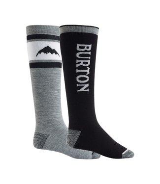 BURTON BURTON MEN'S WEEKEND MIDWEIGHT SOCK 2-PACK TRUE BLACK 2022