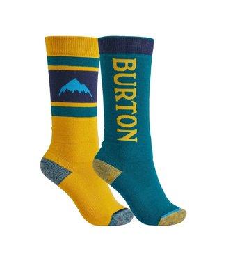 BURTON BURTON KIDS' WEEKEND MIDWEIGHT SOCK 2-PACK CELEST/CADMYL 2022