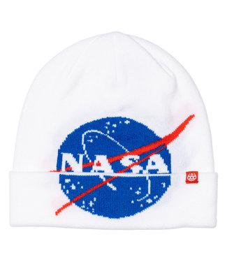 686 686 MEN'S NASA BEANIE WHITE 2022