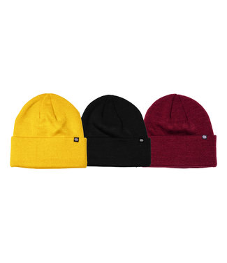 686 686 MEN'S STANDARD ROLL UP BEANIE (3-PACK) BRIGHT PACK 2022