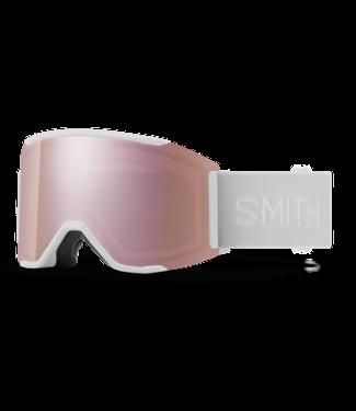 SMITH SMITH SQUAD MAG GOGGLE WHITE VAPOR W/ CHROMAPOP EVERYDAY ROSE GOLD MIRROR + CHROMAPOP STORM ROSE FLASH 2022