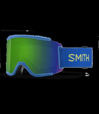 SMITH SMITH SQUAD XL GOGGLE ELECTRIC BLUE W/ CHROMAPOP SUN GREEN MIRROR + CHROMAPOP STORM YELLOW FLASH 2022
