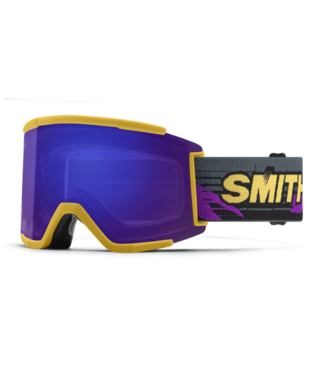 SMITH SMITH SQUAD XL GOGGLE CITRINE ARCHIVE W/ CHROMAPOP EVERYDAY VIOLET MIRROR + CHROMAPOP STORM YELLOW FLASH 2022