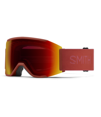 SMITH SMITH SQUAD MAG GOGGLE CLAY RED W/ CHROMAPOP SUN RED MIRROR + CHROMAPOP STORM YELLOW FLASH 2022