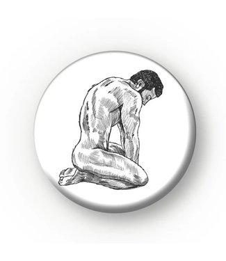 MIVOart Kneeling Side View Pin - MIVOart
