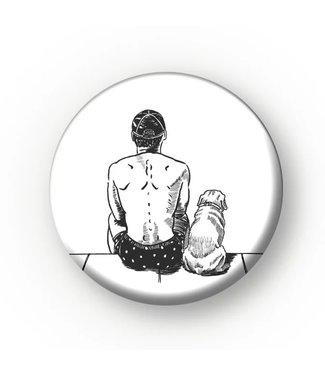 MIVOart Dog Guy Pin - MIVOart