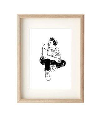 MIVOart Crouching Guy print - MIVOart
