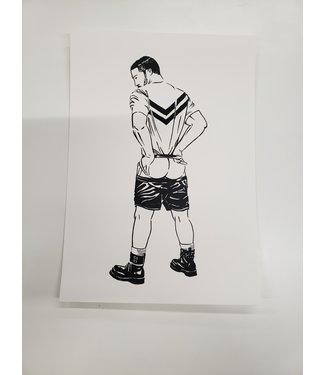 MIVOart Shorts Down print - MIVOart
