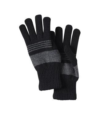 Blend Stripped Gloves - Black