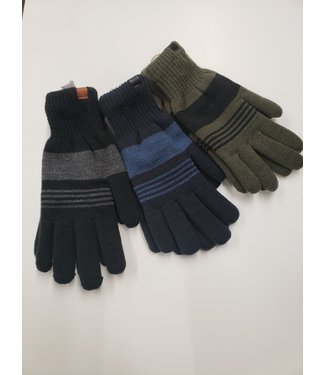 Blend Stripped Gloves - Forest Night Green