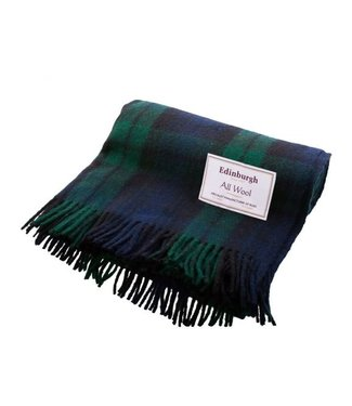 Edinburgh Recycled Wool Tartan Throw - Black Watch - Edinburgh