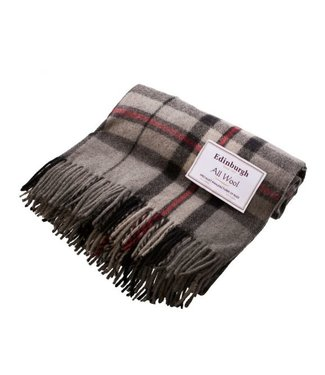 Edinburgh Recycled Wool Tartan Throw - Thomson Grey - Edinburgh