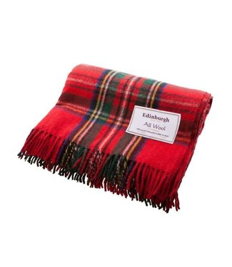 Edinburgh Recycled Wool Tartan Throw - Royal Stewart - Edinburgh
