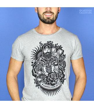 Cartoon Called Life Bunny Tattoo T Shirt
