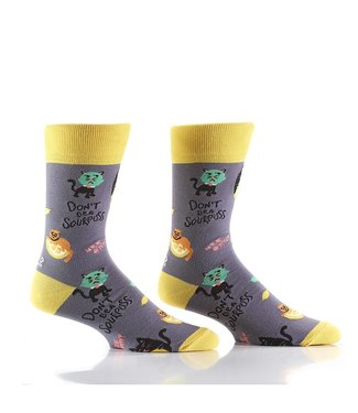 Yo Sox Sour Puss, crew socks