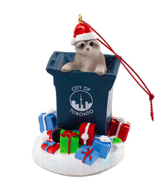 Main and Local Toronto Raccoon Trash Ornament