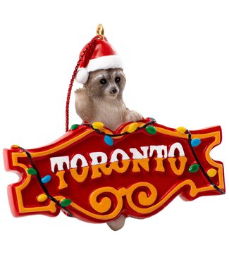 Main and Local Toronto Raccoon Honest Ed Ornament