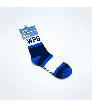 Main and Local Winnipeg City Stripes Socks