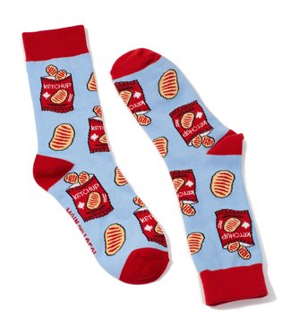 Main and Local Canadian Ketchup Chips Socks
