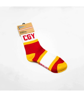 Main and Local Calgary City Stripes Socks