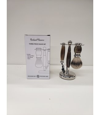 Rockwell Razors 3 Piece Faux Horn Shave Set - Rockwell Razors