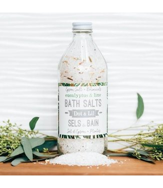 Dot & Lil Eucalyptus & Lime bath salts - Dot & Lil