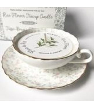 Dot & Lil Rice Flower Teacup Candle - Dot & Lil