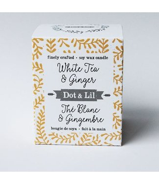 Dot & Lil White Tea & Ginger Soy Soy Wax Candle - Dot & Lil