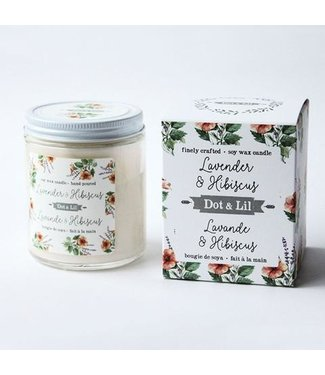 Dot & Lil Lavender & Hibiscus Soy Wax Candle - Dot & Lil