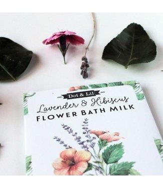Dot & Lil Lavender & Hibiscus Flower Bath Milk Sachet - Dot & Lil