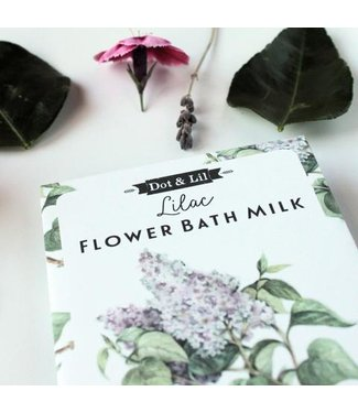 Dot & Lil Lilac Flower Bath Milk Sachet - Dot & Lil