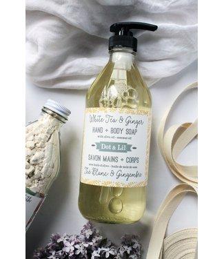Dot & Lil White Tea & Ginger liquid soap - Dot & Lil