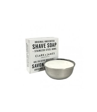 Clark & James Unscented Shaving Soap Tin - Clark & James