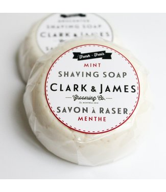 Clark & James Mint Shaving Soap Puck - Clark & James