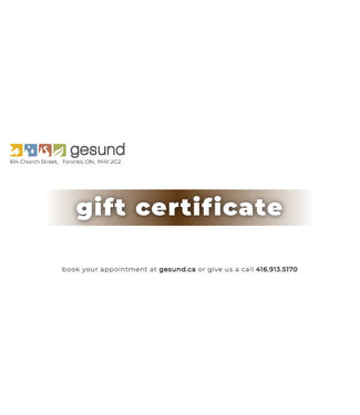 gesund Massage Therapy gift certificate - gesund