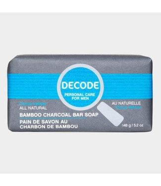 DECODE Citrus Vetiver Bamboo Charcoal bar soap - Decode