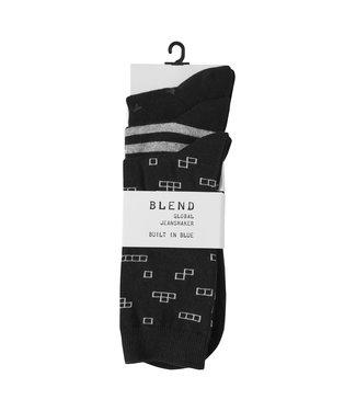 Blend Pattern socks - 3 -pack