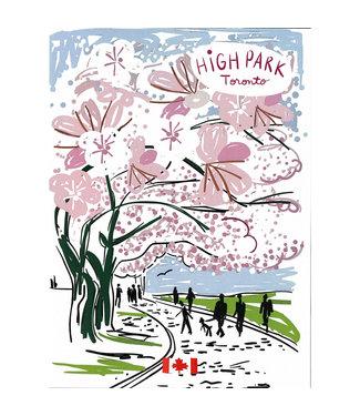 Wendy Tancock High Park Blossom card - Wendy Tancock